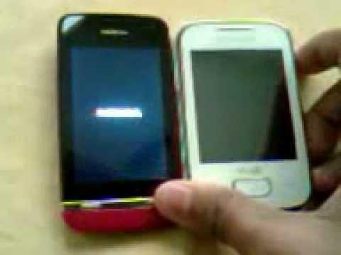 Nokia asha 311 vs samsung galaxy y duos lite boot