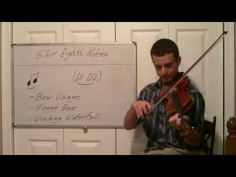 Slur Eighth Notes with the Violin Bow - Technique Lesson