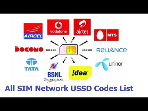 All SIM Network USSD Codes (Airtel, Vodafone,Jio, Docomo, Idea, BSNL)