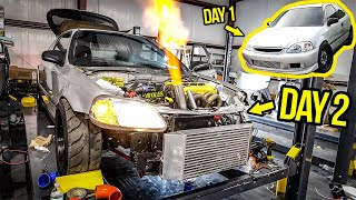 Rebuilding (And Heavily Modifying) A Cheap Ebay Honda Civic In 2 Days