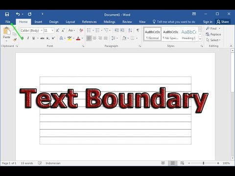 How to Enable or Disable Text Boundary in Microsoft Word 2017