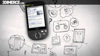 HTC Tattoo 3D product video by 3DIMERCE.com