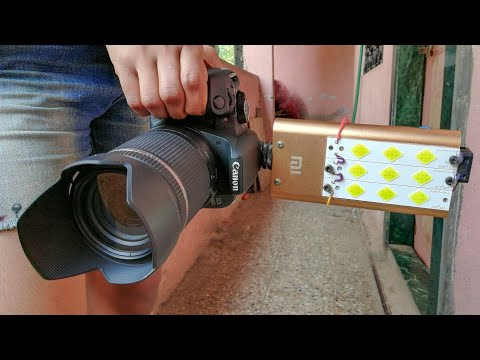How i made my camera light
