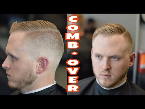 Men's Hairstyle And Blow Dry | Shear Cutting | Comb Over