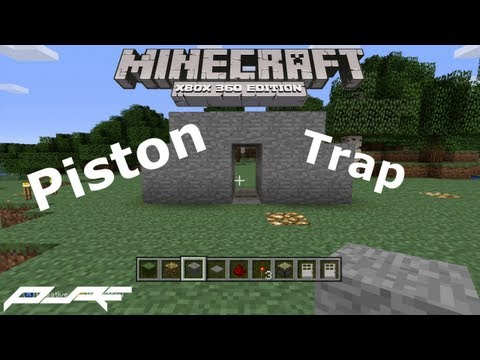 How to Make a Piston Trap in Minecraft! [Xbox]