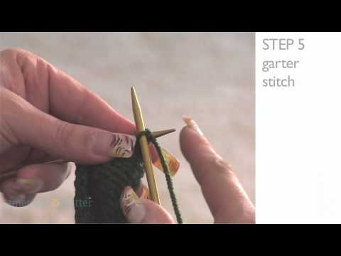 How to Knit Lesson 1 Part 5: Garter Stitch