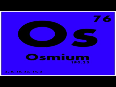 STUDY GUIDE: 76 Osmium | Periodic Table of Elements