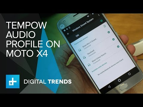 Tempow Bluetooth Audio on Moto X4   Hands on at IFA 2017
