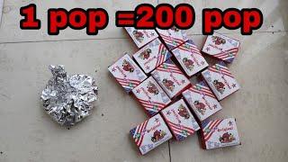 1 POP = 200 POP    Crackers Experiment in hindi   