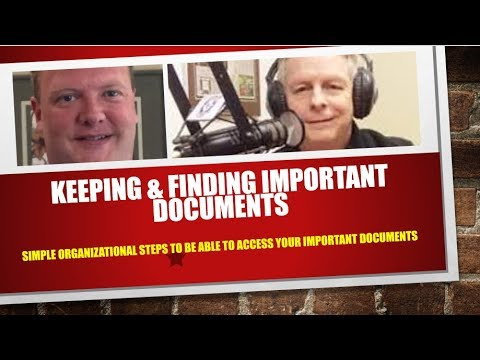 Simple Steps To Keeping And Finding Important Personal Documents