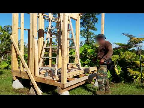 Off Grid Bathroom Project Part 3 - Roof Framing