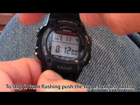 How to Change the Time on a Casio Watch  part 1-2