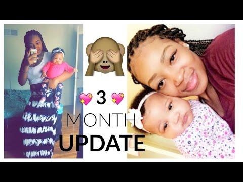 3 MONTH BABY UPDATE!!| Getting Her Ears Pierced, Sleeping Through The Night, Teething?? | Myricia M.