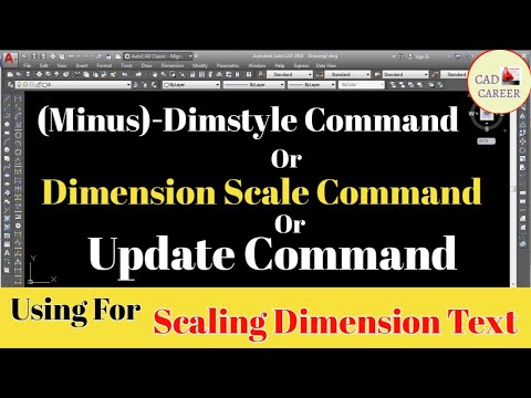 How to set scale of dimension | -Dimstyle command | dimscale command | update command in AutoCAD