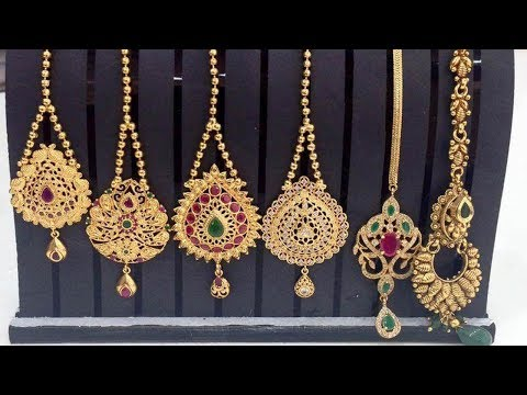 Latest Light Weight Gold Maang Tikka Designs Collections - She Fashion