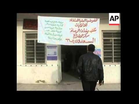 Security and voting at polling stations in the Iraqi capital