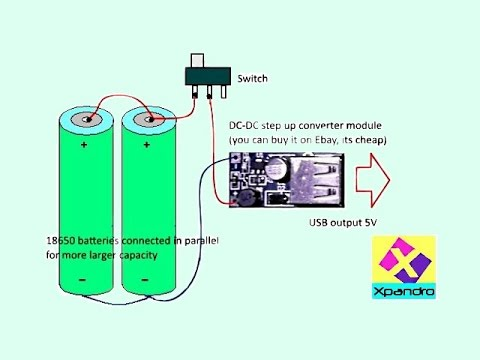 Make simple Power Bank with 18650 batteries