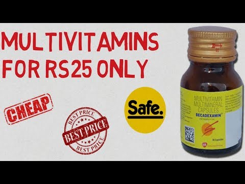 BECADEXAMINE THE CHEAPEST MULTIVITAMIN YOU CAN BUY ONLY FOR RS25