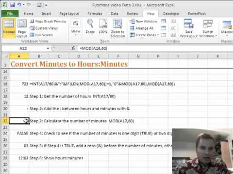 Excel Video 192 Convert Minutes to Hours:Minutes