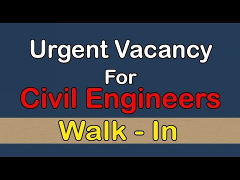 Urgent Vacancy for Civil Engineers in Dubai