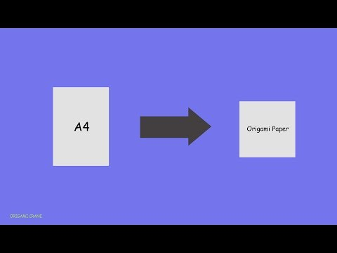 How to make Origami paper from A4 Sheets.