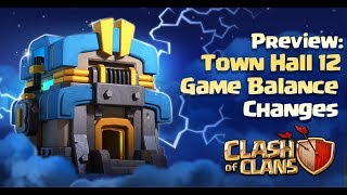 Clash of Clans: Town Hall 12 Game Balance Preview
