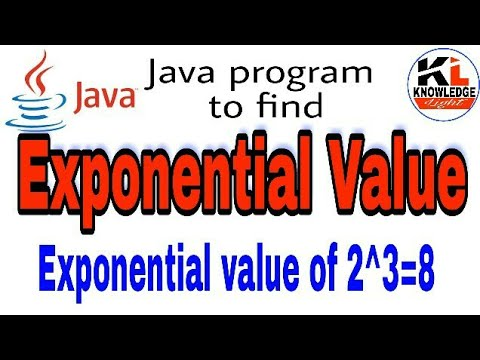 Exponential program in java | Knowledge Light