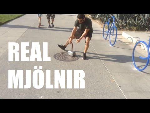 Real Mjolnir (Thor's Hammer) - Electromagnet, Fingerprint Scanner | Sufficiently Advanced