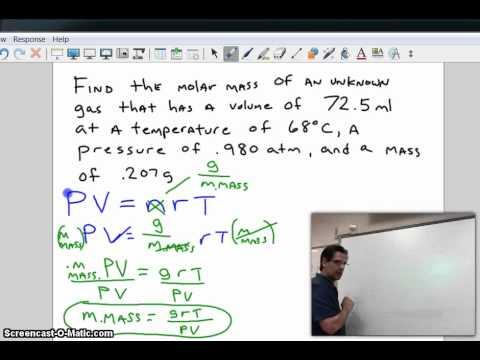 ideal gas molar mass.mp4