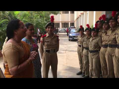Sathaye College NCC Dr Kavita Rege Principal Motivating Cadets for joining Arm Forces