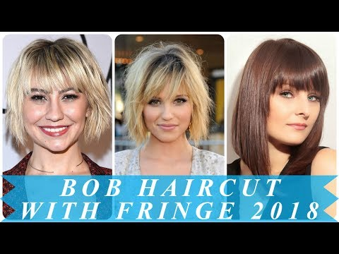 Popular bob hairstyles with bangs 2018