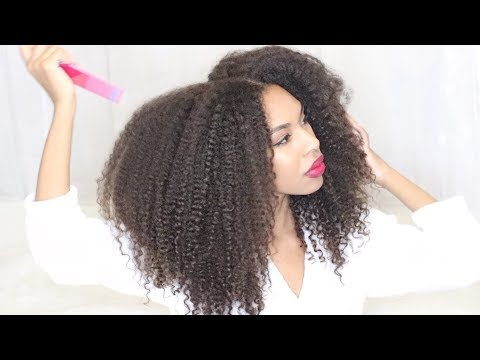 Natural CURLY HAIR ROUTINE after Hair Dye & Straight hair for MONTHS! Make Curls bounce Back!