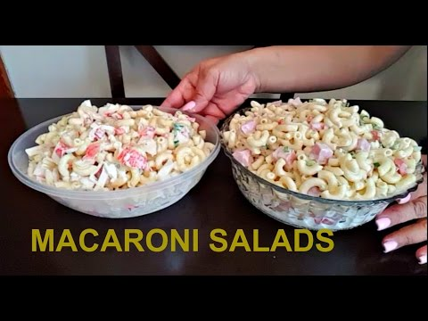 MACARONI SALADS/  ENSALADAS DE CODITO