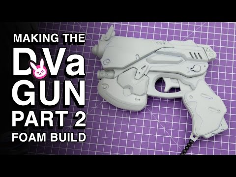 EVA Foam Build - D.Va Gun Replica - Part 2