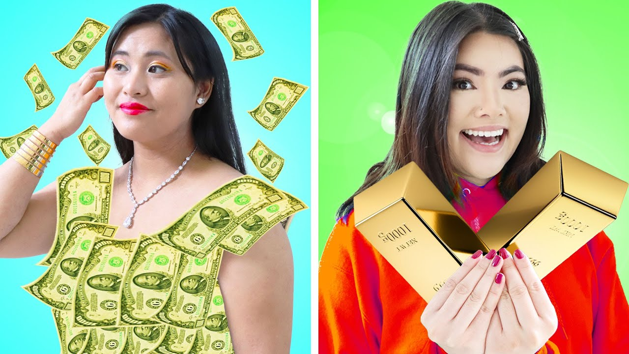 IF MY MOM WAS A BILLIONAIRE | 6 FUNNY FAMILY SITUATIONS & CRAZY CHALLENGE BY CRAFTY HACKS