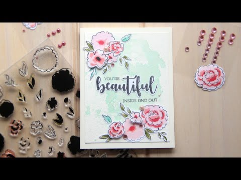 {Two Many Cards} Floral Watercolor Card ft. Winnie & Walter
