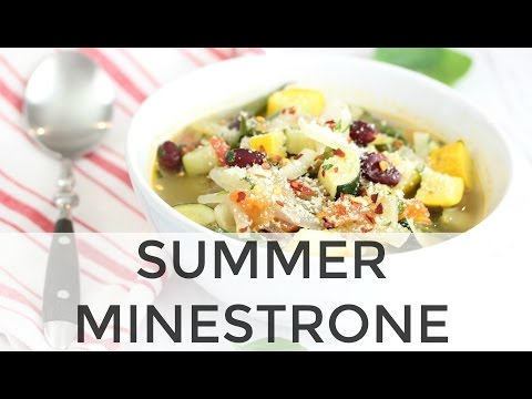 Summer Minestrone Soup   Clean & Delicious