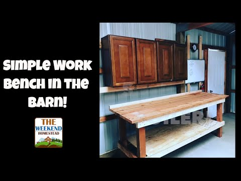 Off Grid Barn Work Bench - Getting Ready for our Solar Project ~ Building a work Bench