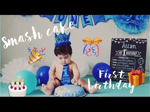 *DIY* IDEA 💡  BABY SMASH CAKE - FIRST BIRTHDAY CAKE - FOTO ESTUDIO