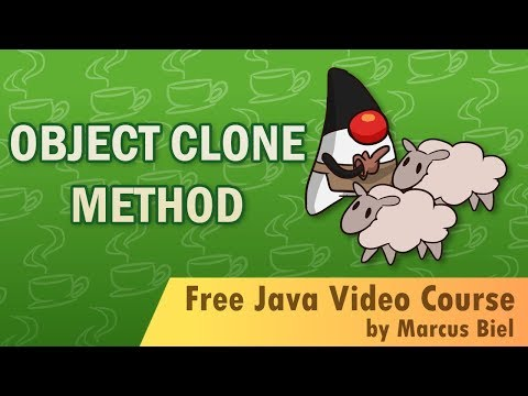 Java for Beginners 19 - Object clone method