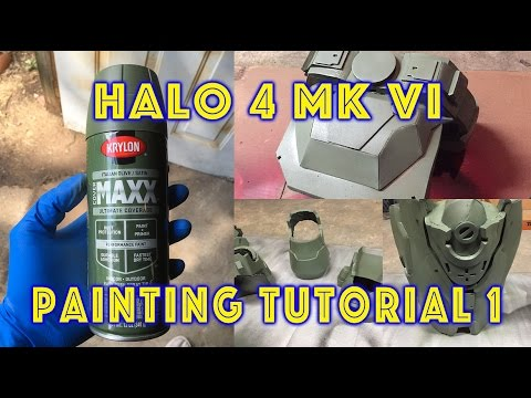 EVA Foam Armor Painting Tutorial 1 - Base Coat