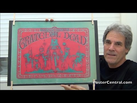 Grateful Dead 1967 Promo Poster for First Album, Signed by Mouse