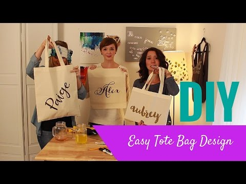 DIY Easy Tote Bag Design- Crafting Under the Influence