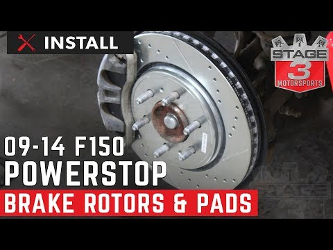2009-2014 F-150 Power Stop Full Brake Kit Install