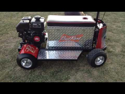 Motorized, cooler, kart, Bud