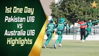 Highlights - 1st One Day   Pakistan U16 vs Australia U16   Pakistan U16 vs Australia U16 in UAE 2019