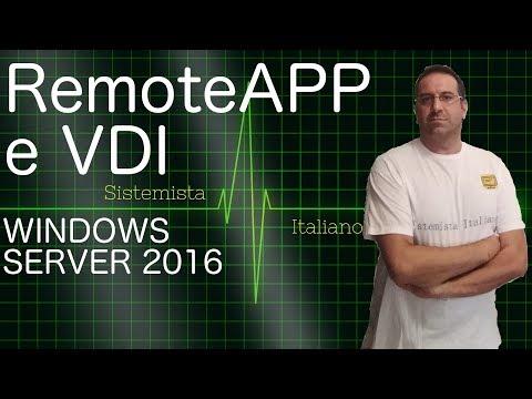 [WINDOWS] - #85 RemoteApp e VDI RDS Server WIndows 2016