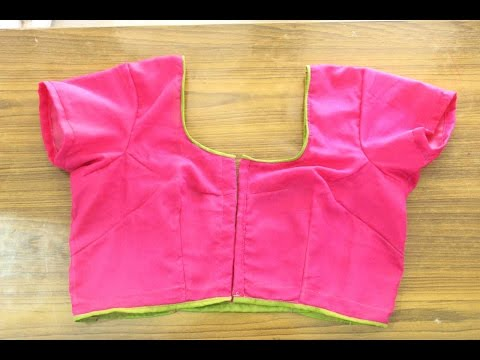 Simple Blouse Measurement,Cutting,Stitching