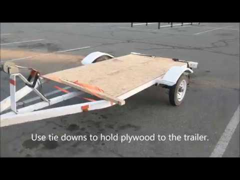 Converting a jetski trailer into a ghetto flatbed trailer