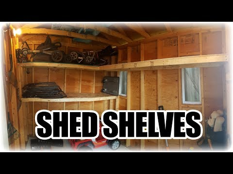 How to Make Simple and Cheap Shelves for a Shed